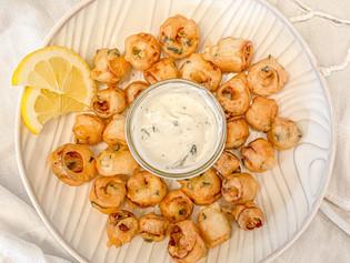Hearts of Palm Calamari with Tartar Sauce
