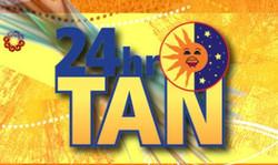 24 hour tan logo
