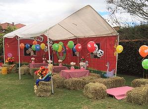 decoración fiesta de granja