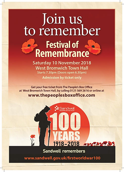Festival of Remembrance poster update 12