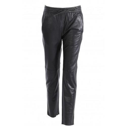 Pantalon jogpant cuir véritable Oakwood