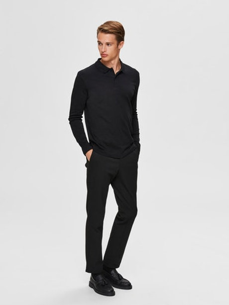 Polo manches longues Selected