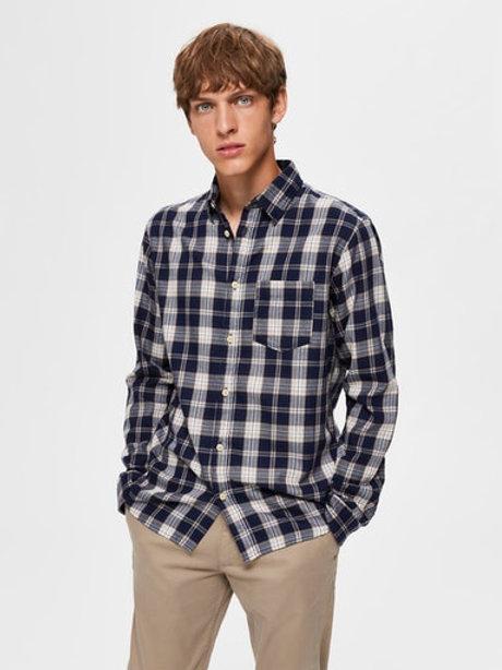 Chemise à carreaux Selected