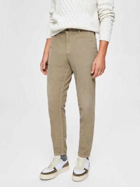 Pantalon en velours côtelé Selected