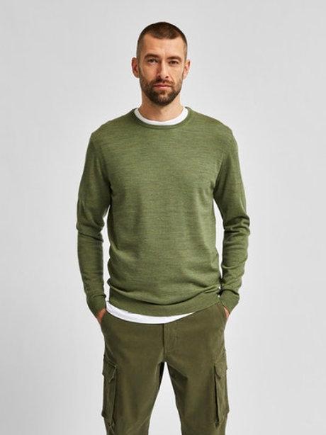 Pull léger vert Selected