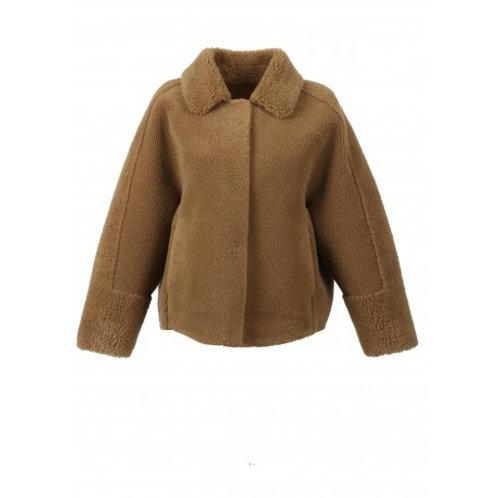 Veste réversible effet peau lainée
