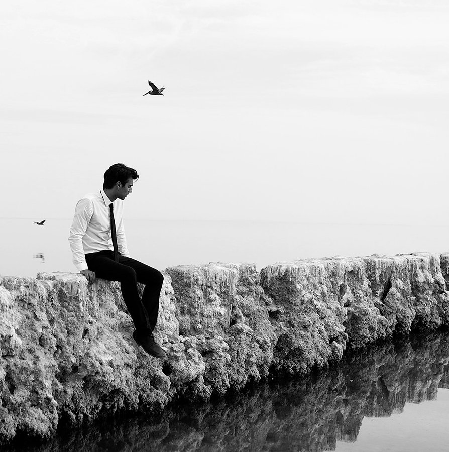 Guillaume Campanacci black and white model bird