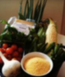 Southern Shrimp & Grits Ingredients