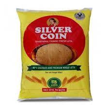 Silvercoin Aata 10kg (Free maida 500gm)