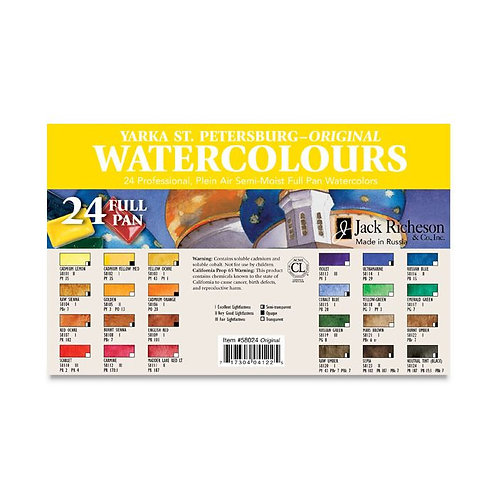 Yarka St. Petersburg Professional Watercolor Pan Sets