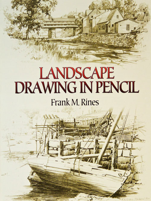Landscape Drawing in Pencil • Frank M. Rines