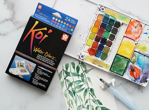 Koi Water Color Field Sketch Kit