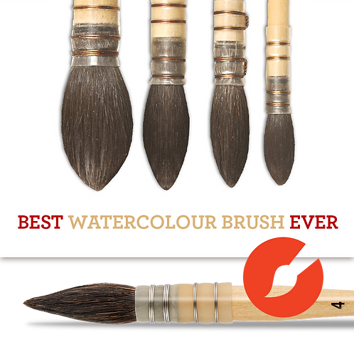 Kazan Squirrel Quill Brushes
