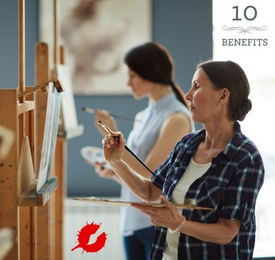 10 ways you benefit from taking an art workshop.