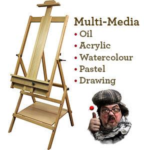 Multi Media Beech Studio Easel