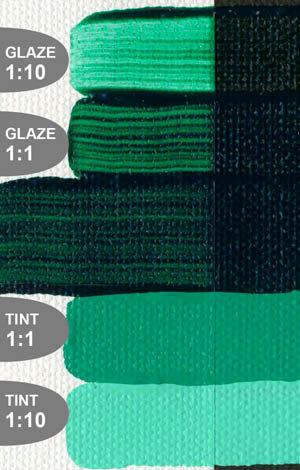Greens - Earth Tones (Golden Open Acrylics)