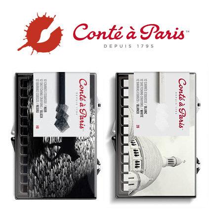 Conté - Black & White Sets of 12