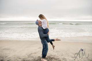 Sammie + Derek | Carlsbad Beach | Engagement