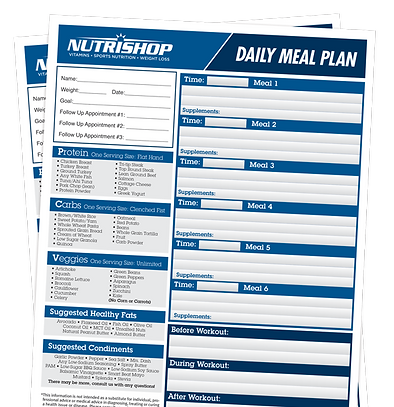 Nutrshop Meal Plan