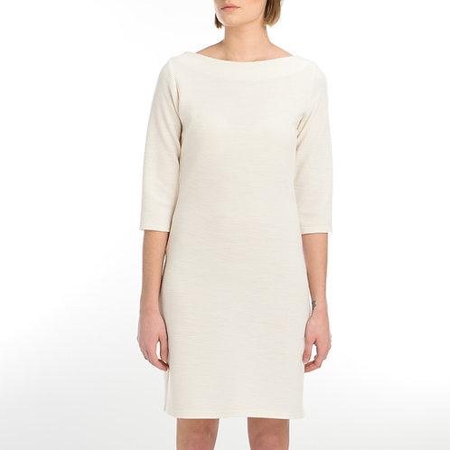 Rib Cream Dress