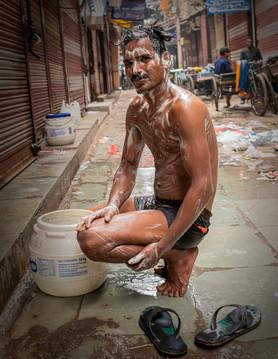 0308_Delhi Man Bathing_COL_17 x 22.jpg