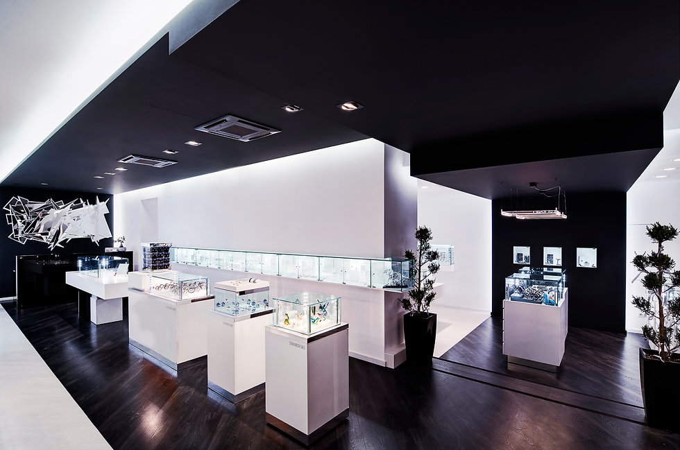 Arapinis Jewellery, swarovski, ανακαινιση καταστηματος, αρχιτεκτονική εσωτερικου χωρου, διακοσμηση