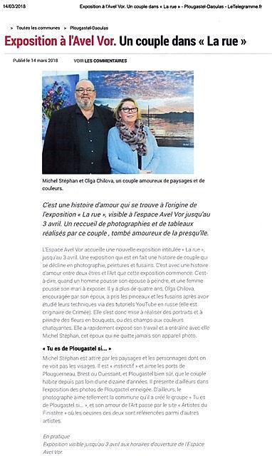 bel article du Télégramme Plougastel