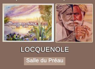 à Locquénolé - Exposition Pastels et aquarelles - du 5 au 9 août 2020
