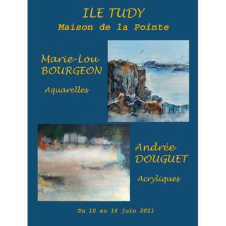 A l'Île-Tudy - Exposition Aquarelles et Acryliques - du 10 au 16 juin 2021