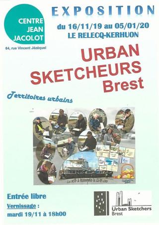 au Relecq-Kerhuon - Exposition Urban sketcheurs Brest - du 16 novembre 2019 au 5 janvier 2020