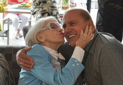 With Carol Channing