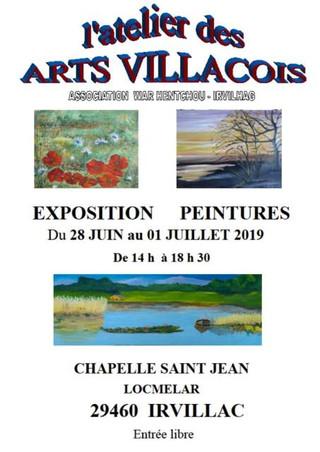 à Irvillac - Exposition de Peintures - du 28 juin au 01 juillet 2019