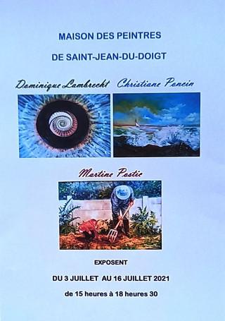 à Saint-Jean-du-Doigt - Exposition - du 03 au 16 juillet 2021
