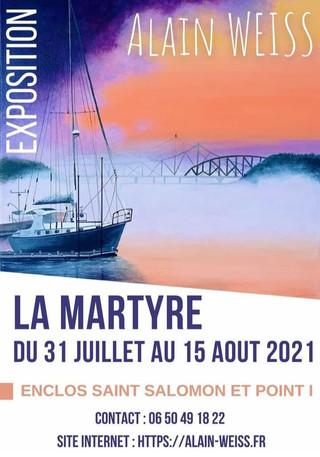 à La Martyre - Exposition de Peintures - du 31 juillet au 15 août 2021