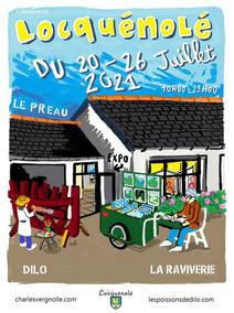 à Locquénolé - Exposition au préau - du 20 au 26 juillet 2021