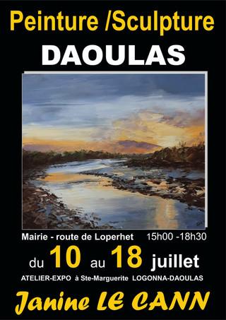 à Daoulas - Exposition de peintures et de sculptures - du 10 au 18 juillet 2021