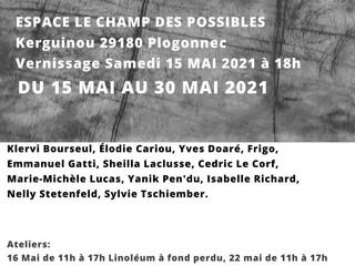 à Plogonnec - Exposition et atelier de gravure - du 15 au 30 mai 2021