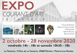 à Plourin les Morlaix - Expo Courants d'Art - du 2 octobre au 28 novembre 2020