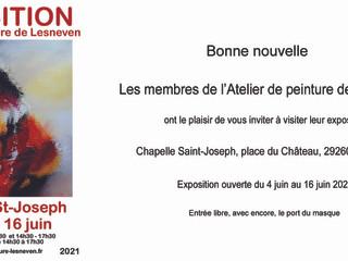 à Lesneven - Exposition de peintures - du 4 au 16 juin 2021