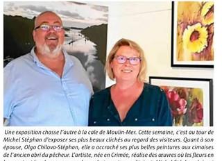 Expo Moulin-Mer Logonna-Daoulas avec Michel STEPHAN