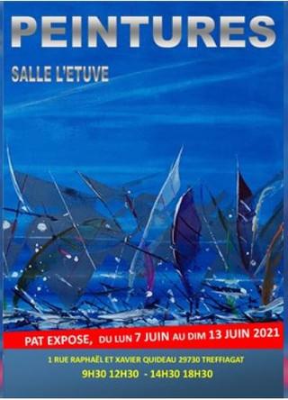 à Treffiagat - Exposition de peinture - du 7 au 13 juin 2021