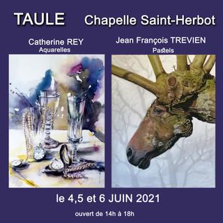 à Taulé - Exposition d'Aquarelles et de Pastels - les 4, 5 et 6 juin 2021
