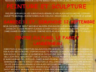 à Landerneau - Exposition de Peintures et de Sculptures -  Les 11 et 12 septembre 2021