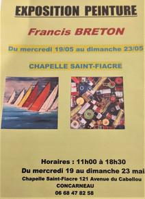 à Concarneau - Exposition Francis BRETON - du 19 au 23 mai 2021