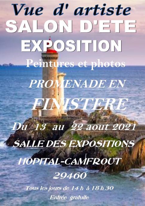 affiche expo d'été 2021 hopital Camfrout
