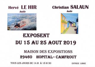 à l'Hôpital-Camfrout - Exposition de peinture - du 15 au 25 août 2019