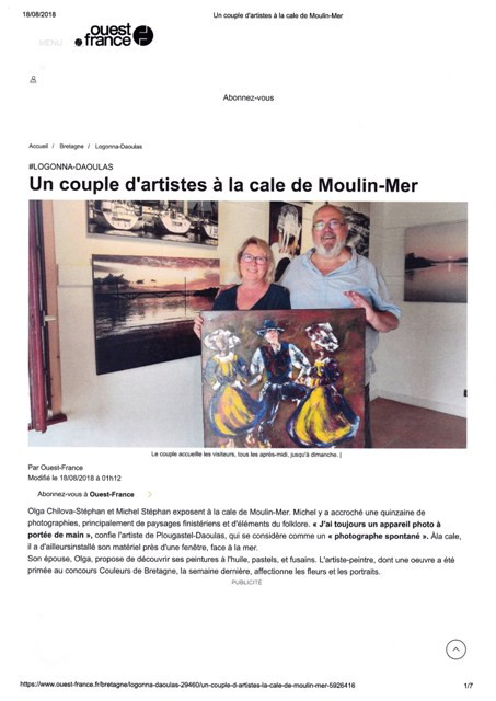 Belle article de Ouest France