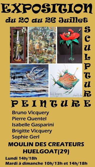 à Huelgoat - Exposition Peinture et Sculpture - du 20 au 26 juillet 2020