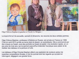 Article de Ouest-France du 27 janvier 2017