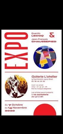 à Brest - Exposition de peintures - du 7 octobre au 14 novembre 2020
